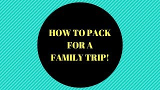 what to pack for a family trip ! red woods trip Part 1