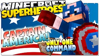 Minecraft | How To Be A Superhero! | CAPTAIN AMERICA! | Only One Command (One Command Creation)