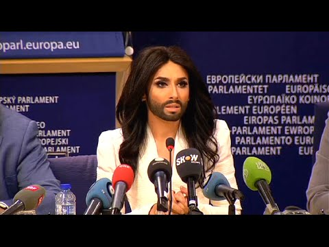Conchita Wurst, Press Conference in the European Parlament