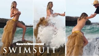 Watch Kate Upton Get Swept Away During Topless Photoshoot | Candids | Sports Illustrated Swimsuit