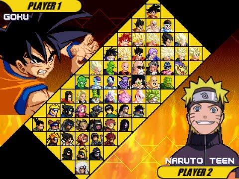 Game | Dragon Ball Z vs Naruto Mugen edition by Ristar87 | Dragon Ball Z vs Naruto Mugen edition by Ristar87