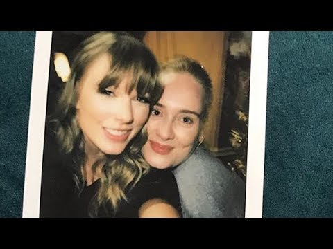 Taylor Swift MEETS Adele & JK Rowling Backstage At Reputation Tour
