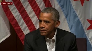 Watch: Former President Obama's first public event since leaving office