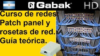 Patch panel y rosetas de red. Guía teórica, Curso de red