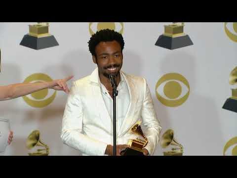 Donald Glover aka Childish Gambino - 2018 Grammys Full Backstage Interview thumbnail