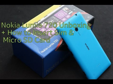 Nokia Lumia 720 Unboxing + How to insert Sim & Micro SD card