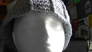 Crochet beanie that is too big ? How to rescue it :)