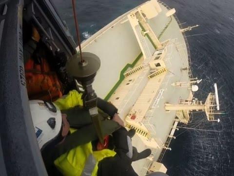 Raw: Cargo Ship Drifts Off Coast of France