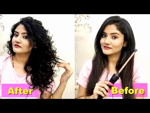 How to curl your hair easily   Amazon Havells Chopstick Curler Review & Demo   Nikki's Pasion