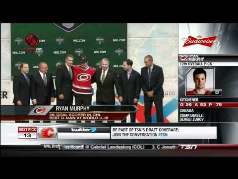 Ryan Murphy Drafted 12th by the Carolina Hurricanes (2011 NHL Draft)