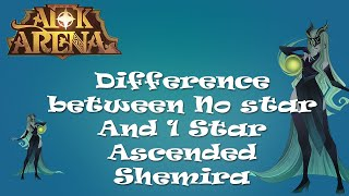 AFK Arena - Difference between No star And 1 Star Ascended Shemira..