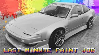 Dumb shop stuff - Cheap last minute drift car paint job