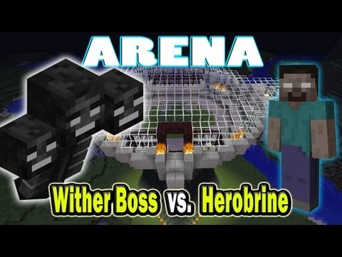 Minecraft Arena Battle Herobrine vs. Wither Boss