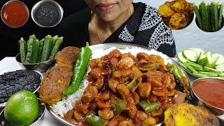 Chili Soyabean Eating With Rice Asmr Indian Food Mukbang