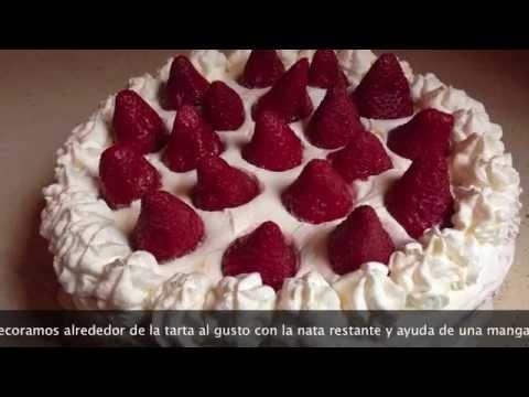 Tarta De Fresas Y Nata Riquisima Y Facil Youtube