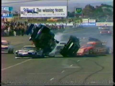 Every type of motor racing crash possible. From around the 80's Music: Johann Strauss II - The Blue Danube Waltz.