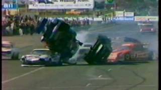 Old School Classic Vintage 80s Car Racing Crashes