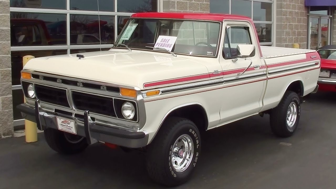 1977 Ford F150 4x4 351 V8 Four Speed Youtube