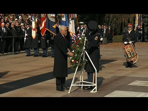 Pence Lays Wreath at Tomb of the Unknown Soldier