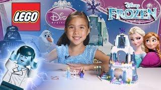 ELSA'S SPARKLING ICE CASTLE - LEGO Disney FROZEN Set 41062 Time-Lapse & Stop Motion