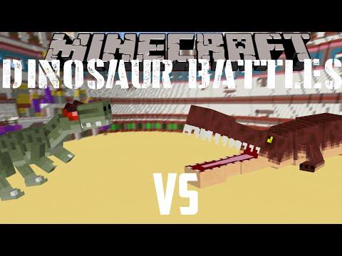 Minecraft dinosaur battles|Allosaurus Vs Deinosuchus|
