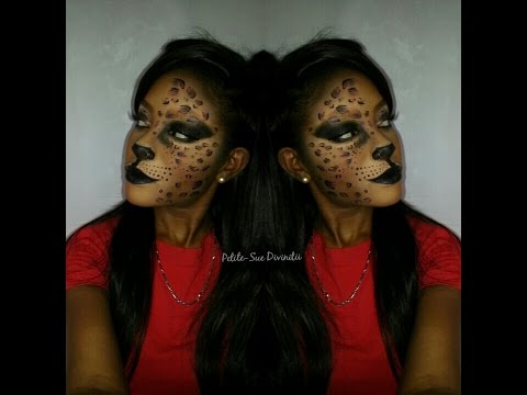 Sexy Cat Leopard Halloween Makeup
