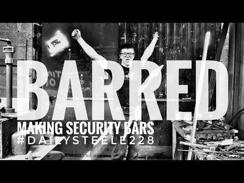 BARRED - Had to make security bars for the shop doors!