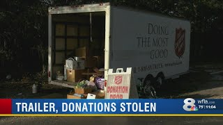 Donation trailer stolen from Salvation Army