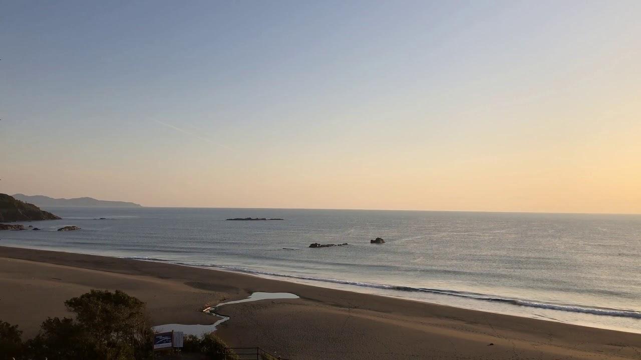 サーフィン動画 - フラットな金曜日、明日はどうかなあ/平野ビーチ波情報@どらごん 201901250745