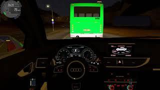 Audi RS7 night drive