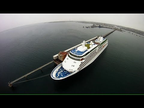 UAV FPV over Port of Holyhead - Lifeboat, Royal Navy, HSS, SIlver Sea Cruise Liner and Light House