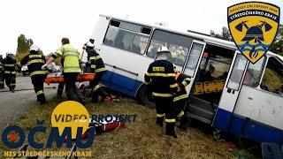 Taktické cvičení složek IZS okresu Příbram - DN Autobus 2015