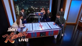 Download Song Spider-Man Cast on Tom Holland & Zendaya's Air Hockey Rivalry Free StafaMp3