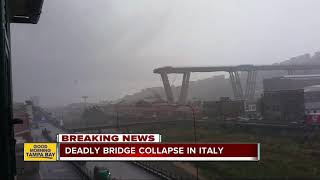 Bridge collapse in Italy: Several people dead
