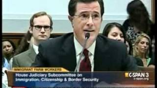 Colbert Explains 'Corn Packer' to Congressman