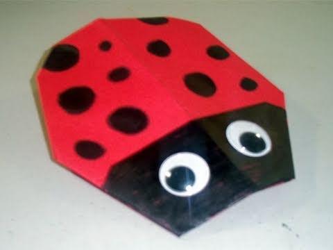Cómo hacer una catarina de papel - manu-gami