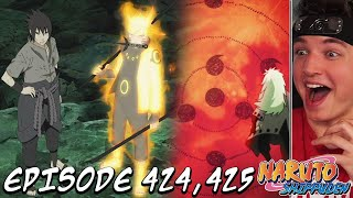 SIX PATHS NARUTO? SASUKE'S RINNEGAN?! | Naruto Shippuden REACTION Episode 424, 425