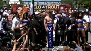 Canelo Alvarez vs Austin Trout - Official Weight In Highlights