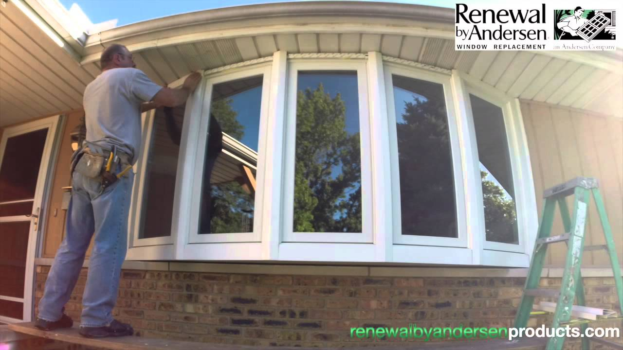 Renewal by andersen bow window installation youtube for Bow window replacement