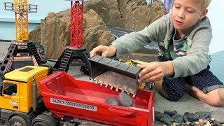 BRUDER TOYS Rocky Corner CONSTRUCTION RC Toy Truck Video for CHILDREN