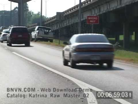 8/27/2005 New Orleans, LA Contraflow Evacuations video. Raw Master - 02