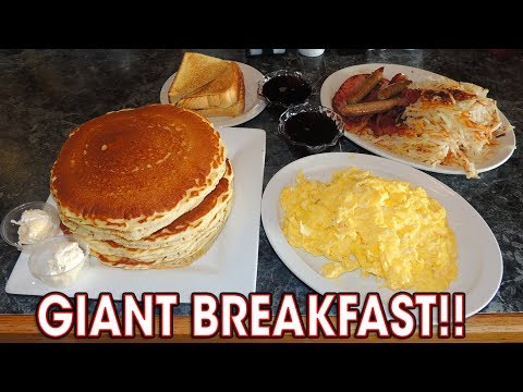 Classic Breakfast Challenge w/ Pancakes, Bacon, & Eggs!!