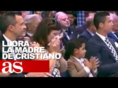 La madre de Cristiano Ronaldo no pudo contener las lágrimas