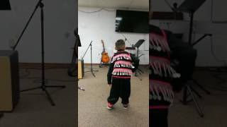 Troy dancing in hmong clothes