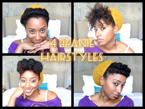 4 BEANIE HAIRSTYLES ON NATURAL HAIR