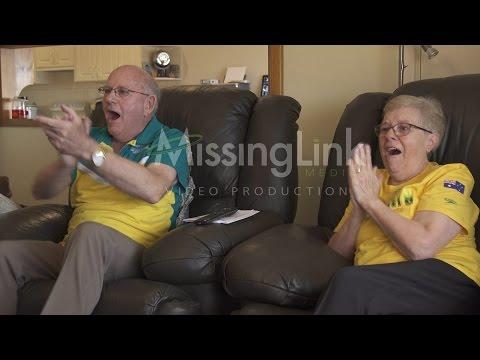 Mirá cómo reaccionan dos abuelos al ver a su nieto ganar la medalla de oro
