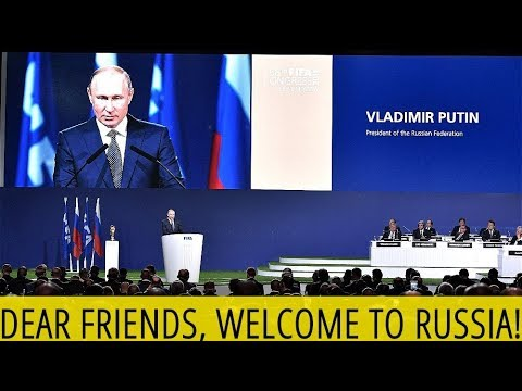 ⚽ 2018 FIFA World Cup 🏆 Putin To FIFA Congress: Welcome to Russia! Let The Footbal Games Begin! 🇷🇺
