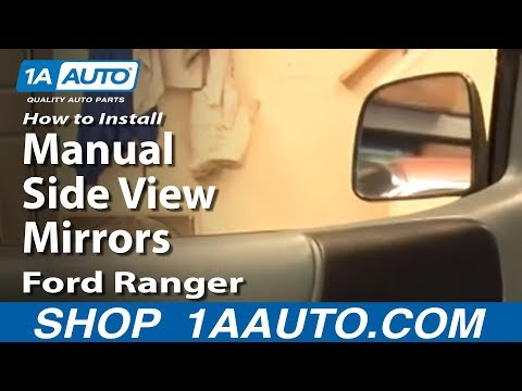 How To Install Replace Broken Manual Side View Mirror Ford Ranger 93-97 1AAuto.com