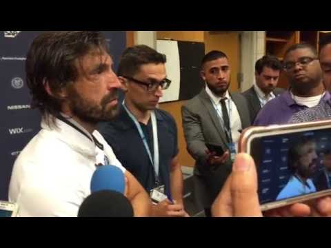 Andrea Pirlo Post Match Interview - NYCFC v Red Bulls