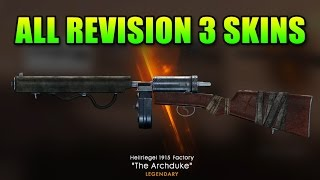 All Revision 3 Weapon Skins Unlocked & Reviewed | Battlefield 1 Legendary Archduke